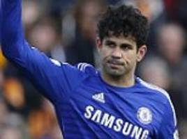 Chelsea striker Diego Costa set to miss Arsenal clash with hamstring injury